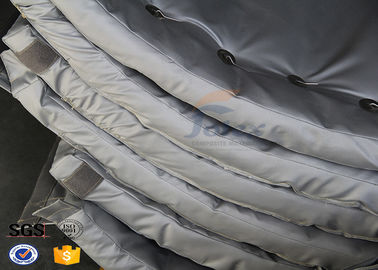 Lightweight Fiberglass Thermal Insulation Jackets , Removable Insulation Covers Fire Retardant